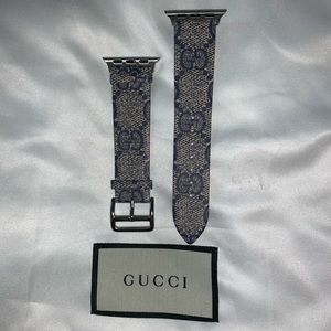 Rubber Gucci Print Apple 40mm Strap